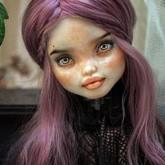 La imagen puede contener: una persona Custom Monster High Dolls, Monster High Repaint, Custom Dolls, Doll Eyes, Doll Face, Ooak Dolls, Art Dolls, Monster High Collection, Living Dead Dolls