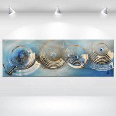 Verloren Im Zeit Acryl-Malerei riesige abstrakte Wand Leinwand Kunst original blau bunten übergroßen fertig zum Aufhängen 48 x 20 gestreckt Leinwand Kunst Ettis Galerie Acryl handgemalt Criginal; Leinwand auf Keilrahmen; Seiten sind bemalt; fertig zum Aufhängen; Farben sind frei von