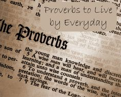 Below is a list of common occurrences in life that we can apply the bible proverbs towards. Description from aproverbs31wife.com. I searched for this on bing.com/images