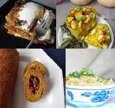 Vegan recipes collage - entrees