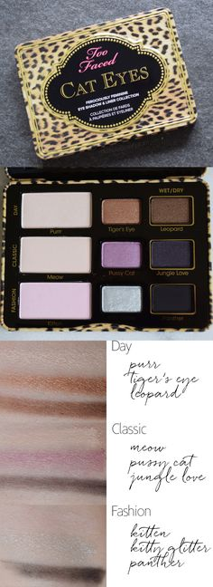 Too Faced Cat Eyes Palette Review and Swatches via 15MinuteBeauty.com