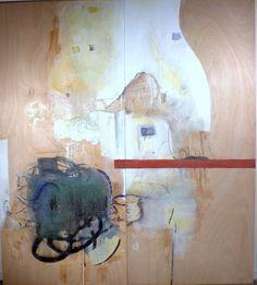 """DECODING WOOD V,   80x72""""  encaustic on wood (2 panels)"""
