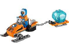 Investigate the secrets of the ice with the LEGO® City Arctic Snowmobile!