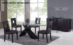 ideas glass wood dining table awesome best dining room table ideas design glass top round dining table along black wooden base on the gray fur rug also four black leather dining chair