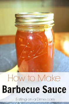 Easy Homemade Barbecue Sauce - Make this BBQ sauce in minutes - Perfect for your next grilling dinner.