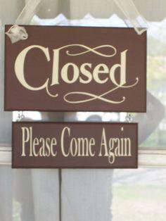 cute open/closed sign