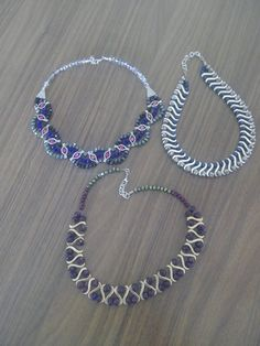 Beaded Jewelry, Beaded Necklace, Pendant Necklace, Metal Beads, Hand Embroidery, Jewelery, Pendants, Bows, Chain