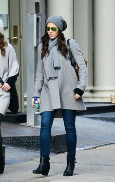 Pregnant Jessica Biel's Got Winter Maternity Style All Figured Out