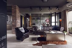 Perfect Balance Achieved For An Industrial Bachelor Pad... or for me;)
