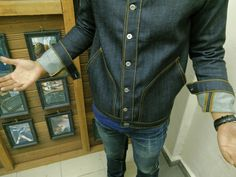 request on the non selvedge denim button down jacket #rawdenimhouse #craftmanship #madeinmalaysia #besutcraft #handmade