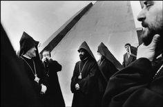 Thomas Dworzak - ARMENIA. 1994. Erevan. Armenian priests at a commemoration of the Armenian genocide of 1915.