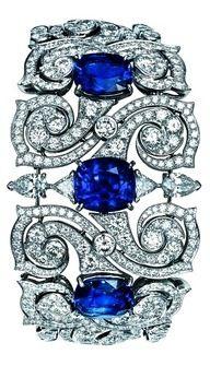 Blue Bling: TS Cartier jewelry bracelet – platinum, sapphire, diamond I Love Jewelry, High Jewelry, Bling Jewelry, Jewelry Box, Jewelery, Jewelry Design, Modern Jewelry, Jewelry Making, Cartier Jewelry