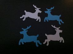 Reindeer Confetti150 pieces by CassCouture12 on Etsy, $4.00