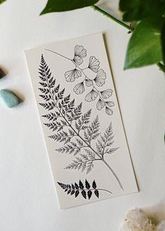 Fern Tattoo, Plant Tattoo, Bone Tattoos, Body Art Tattoos, Chest Tattoo, Back Tattoo, Temporary Tattoo Designs, Baby Oil, Nature Prints