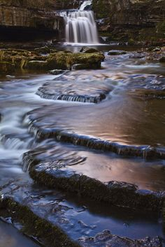 Cauldron Falls from the book, Walks to Waterfalls, in the popular pocket-size 'Top 10 walks' series for the Yorkshire Dales.