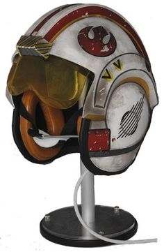 Mark Hamill X-Wing Helmet Prop Replica from Star Wars Episode IV A New Hope. It is made by EFX and is 1:1 scale (approx. 26cm / 10.2in wide).  http://star-wars.minimodelfilmstuff.co.uk/starwars-collectable/star-wars-episode-iv-a-new-hope-luke-skywalker-x-wing-helmet-prop-replica-efx-01111019  In Star Wars Episode IV: A New Hope, Luke Skywalker was assigned the wing position of Red Five and flew his X-wing starfighter in the Battle of Yavin against the Empire's mightiest weapon, ...