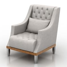 Armchair Smania Jana Plusa - model for interior visualization. 3d Visualization, Sofas, Armchair, Interior, Objects, Tables, Chairs, Models, Furniture