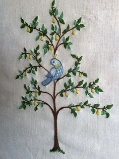 Embroidered Pear Tree.