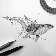 Tattoo • Drawing • Whale by Kerby Rosanes •