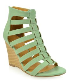 Look at this Mint Revon Wedge Sandal on #zulily today!