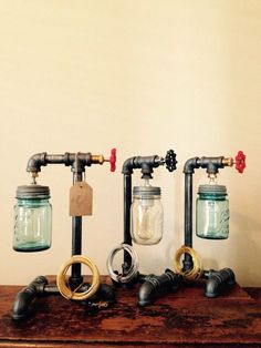 Your place to buy and sell all things handmade Pipe lamp switch. It fits any inch standard thread pipe, or larger diameter if you reduce it down. Its a rotary switch. Turn the valve t Pipe Lighting, Mason Jar Lighting, Industrial Lighting, Mason Jar Lamp, Industrial Style, Lampe Steampunk, Pipe Decor, Lamp Switch, Diy Pipe