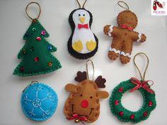 Enfeites de Natal em Feltro com Moldes