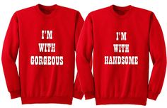 Funny his and her shirts. Matching couple sweatshirt. Cute couple sweatshirt. Handsome gorgeous shirts. Gift for Couple. Anniversary shirts.