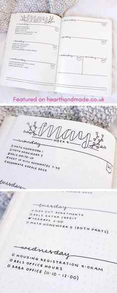 Beautiful lettering. Super Pretty Bullet Journal Weekly layouts. Great ideas for layouts.