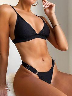 Sexy Bikini, Brasilianischer Bikini, Black Bikini, Bikini Girls, Bikini Ready, High Cut Bikini, Black Swimsuit, Cute Swimsuits, Women Swimsuits
