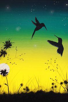 He titulado esta obra «Gloriosa y libre». Se trata de una pintura original.  Esta es mi segunda pieza en una nueva serie dedicada a las aves
