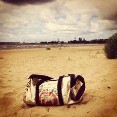 #eco #bag made of #cement bag   #fashion #stylish #beach #sport