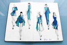 Resultado de imagen de fashion sketchbooks