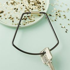 Contour Bell Black Key Ring Stocking Stuffer Ideas /