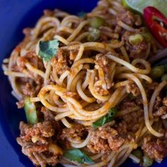 Red Curry Spaghetti Bolognese