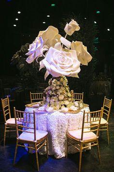 Huge paper flowers