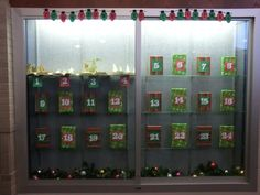 Advent Calendar.  We wrapped 24 books and each day one is unwrapped to reveal a pop-up.