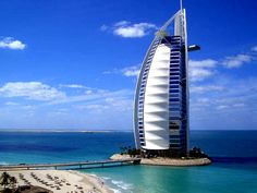 Hotel Burj Al Arab in  Dubai. Could only see it from the outside. Couldn't even begin to afford to stay there...