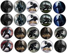 Black Panther Marvel Edible Images Cupcake Cookie Toppers