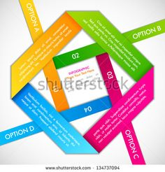 vector illustration of origami style background with multicolor strip for different choice, option or step
