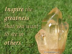 "My guides were speaking loud and clear this morning with the following message... ""Inspire the greatness that you want to see in others.""   I do my best to do this daily in a heart-centered way. Sending love and sharing knowledge along the way. It is a blessing each and every day! ~Jen   #CrystalGuidance #StitchesAndStonesKC #crystals #crystal #Citrine #NaturalCitrine #AbundanceQuartz #affirmation #inspiration #inspire #greatness #sharingmessagesoflove"