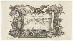 Carel Jacob de Huyser | Kaart van de kust van Mauritanië en Zuid-Marokko, Carel Jacob de Huyser, 1770 | Een kaart van de kust van Mauritanië en Zuid-Marokko, bovenaan vastgehouden door een adelaar. Om de kaart monumentale ornamenten.