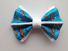 I 3 Bacon Duct Tape and Fabric Hair Bow by QuirkyQuafts on Etsy, $7.00