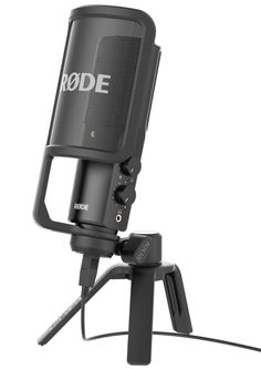 RODE NT-USB Mac + PC Studio Microphone with Stand Pop Filter