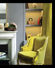 Chartreuse Walls Ok Which Room Am I Going To Re Do In Our House Decorating Pinterest Grey Tutus And