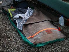 Canvas bedroll w/wool blanket - canoe camp