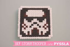 DIY Stormtrooper coaster #starwars with Pyssla Beads