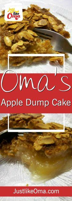 Super quick. Super easy. Super yummy! Penny's Apple Dump Cake ❤️ http://www.quick-german-recipes.com/apple-dump-cake.html