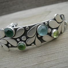 Jubilation in the Key of Green Bracelet Sterling by westbyron