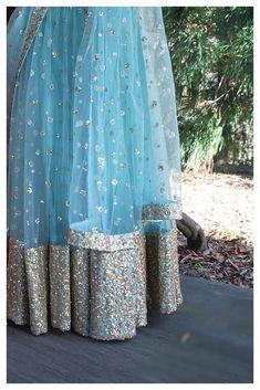 The Firoza Gypsy Sequin Lehenga Set – The Peach Project by Ayesha Anarkali Lehenga, Blue Lehenga, Indian Lehenga, Bridal Lehenga, Lehenga Style, Sharara, Pakistani, Indian Dresses, Indian Outfits