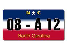 North Carolina USA Dekoschild mit Wunschtext bedruckt - Hausnummern und Schilder online kaufen